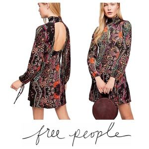 Free People All Dolled Up mock open mini dress